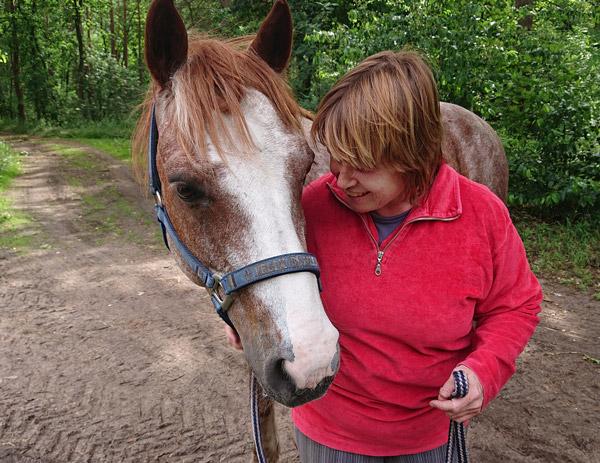 Nina Schweppe und ihr Pferd