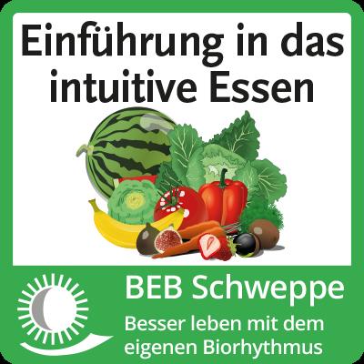 Das Foto zeigt das Logo »Einführung in das intuitive Essen«